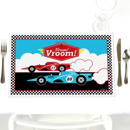 Let's Go Racing - Racecar - Party Table Decorations - Race Car Baby Shower or Birthday Party Placemats - Set of 12 for $<!---->
