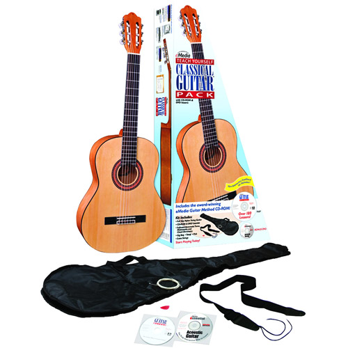 eMedia Music EG07107 Teach Yourself Classical Guitar Pack v5 with Full-Size Guitar by Emedia