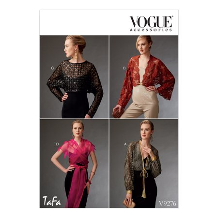 Vogue Patterns Sewing Pattern MISSES' REVERSIBLE SHRUGS AND CAPELET-All Sizes in One Envelope Easy To Sew Patterns
