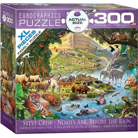 Noah's Ark Before the Rain by Steve Crisp 300-Piece - Crispy Puzzle
