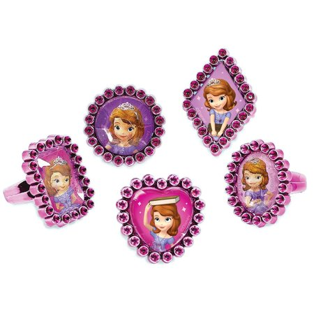 Sofia The First Jewel Ring Favors (18 Pack) - Party Supplies