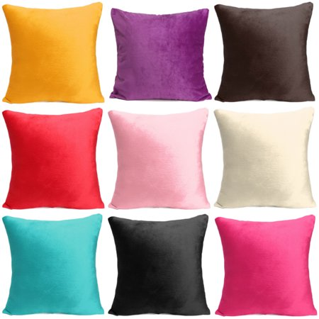 Meigar Decorative Throw Pillow Case Cushion Cover Clearance 18x18 inch Square Zipper Waist Pillowcase Pillow Protector Slip Cases Sham for Home Bedroom Couch Sofa Bed Patio Chair Back Sofa Cushion 6 Piece