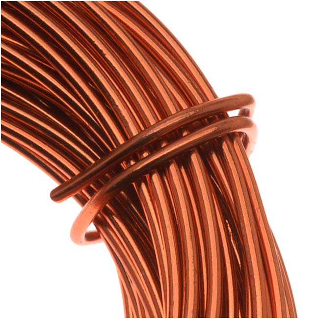 Aluminum Craft Wire Copper Color 18 Gauge 39 Feet (11.8 Meters)