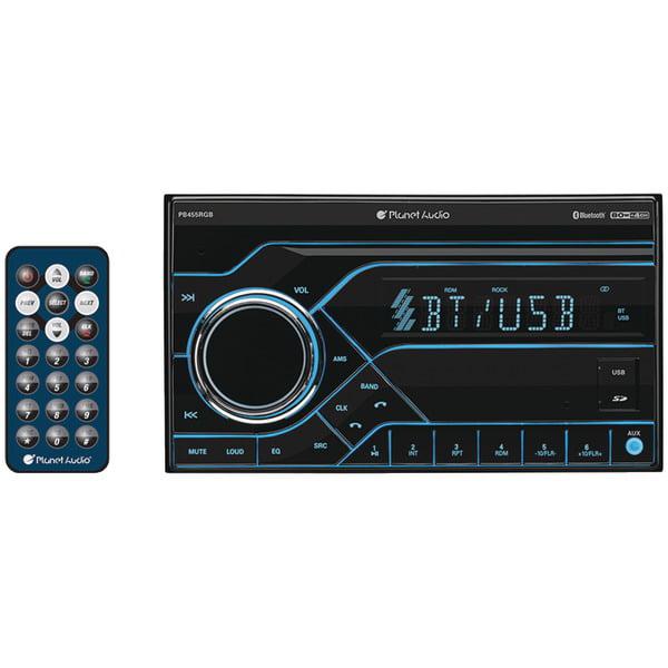 Planet Audio PB455RGB Double Din Digital Media Receiver AM//FM Bluetooth w//USB