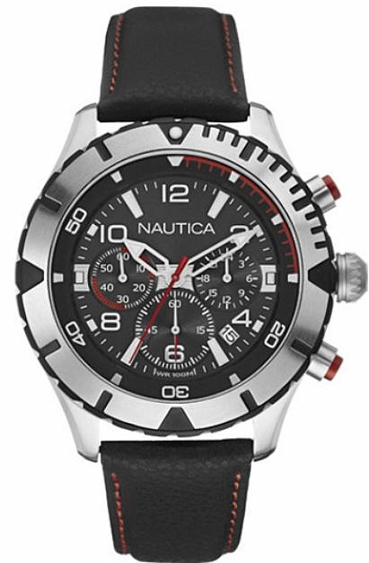 Men's Nautica Chronograph Screw Down Crown Watch NAD20502G by Nautica