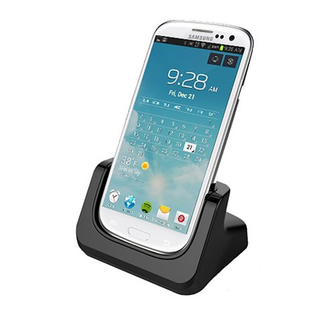 RND Dock for Samsung Galaxy Note 2 with Dock mode and Audio Out (compatible without or with a case) (black)~White