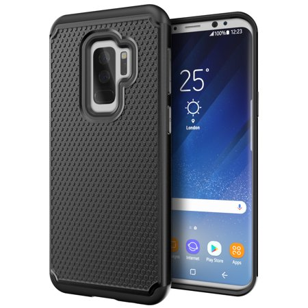 check out 059d2 8bd3b Cimo Armor Galaxy S9 Plus Case with Shockproof Dual Layer Protection and  Rugged Hybrid Shell for Samsung Galaxy S9 Plus - Black
