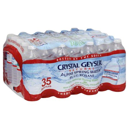 Crystal Geyser® Natural Alpine Spring Water® 35 Ct Plastic - Crystal Water Set