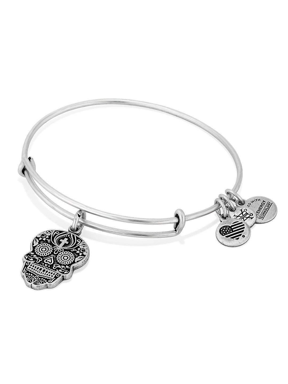 Calavera Rafaelian Silver Bangle Bracelet
