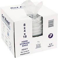 Inteplast Group Get Reddi Pinch & Seal Zipper Food Storage Bags, 8 Quart, 1000 Ct