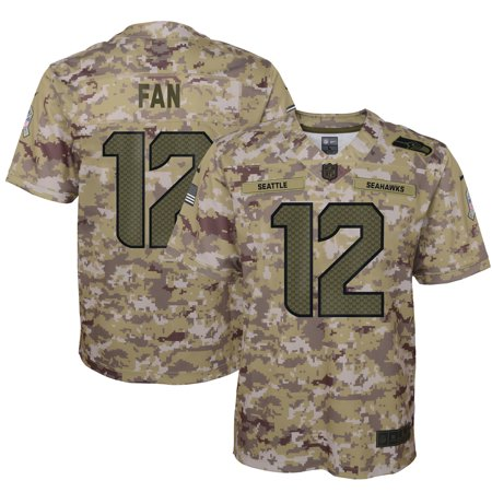 Nike Pro Camo (12s Seattle Seahawks Nike Youth Salute to Service Game Jersey - Camo)