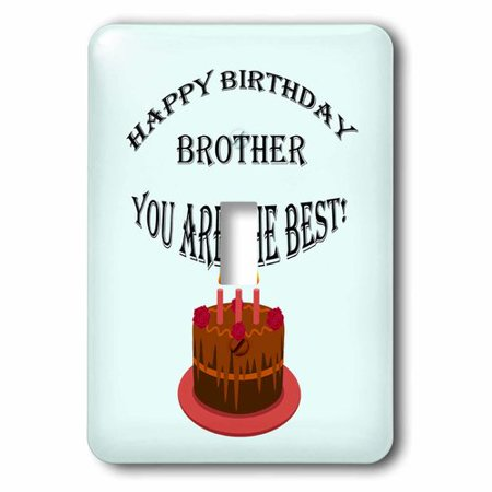 3dRose Happy birthday brother. Blue, saying, quote, Single Toggle Switch](Halloween Birthday Quotes And Sayings)
