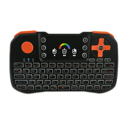 TZ10 Wireless Keyboard Touchpad Mouse Handheld Remote Control with Colorful Backlight for Android Smart TV PC Notebook Laptop Black - image 4 of 7