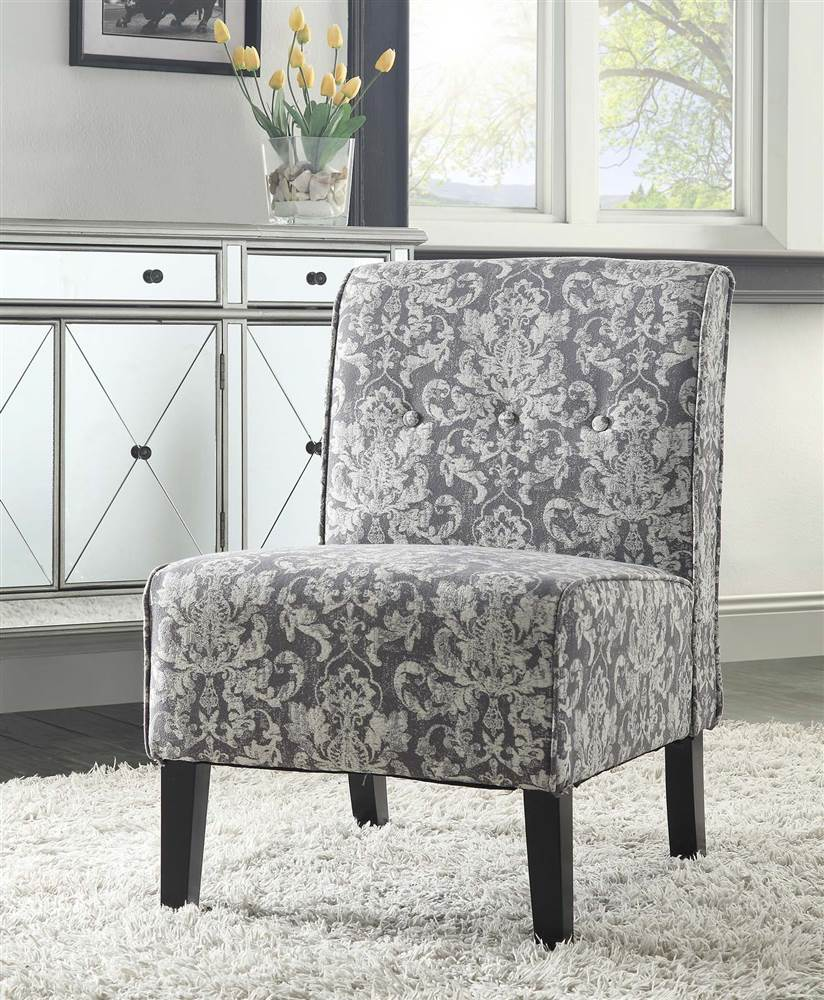 Linon Coco Accent Chair, Harvest Fabric, 18 Inch Seat Height   Walmart.com