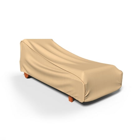 Budge Large Tan Patio Outdoor Chaise Cover, NeverWet®