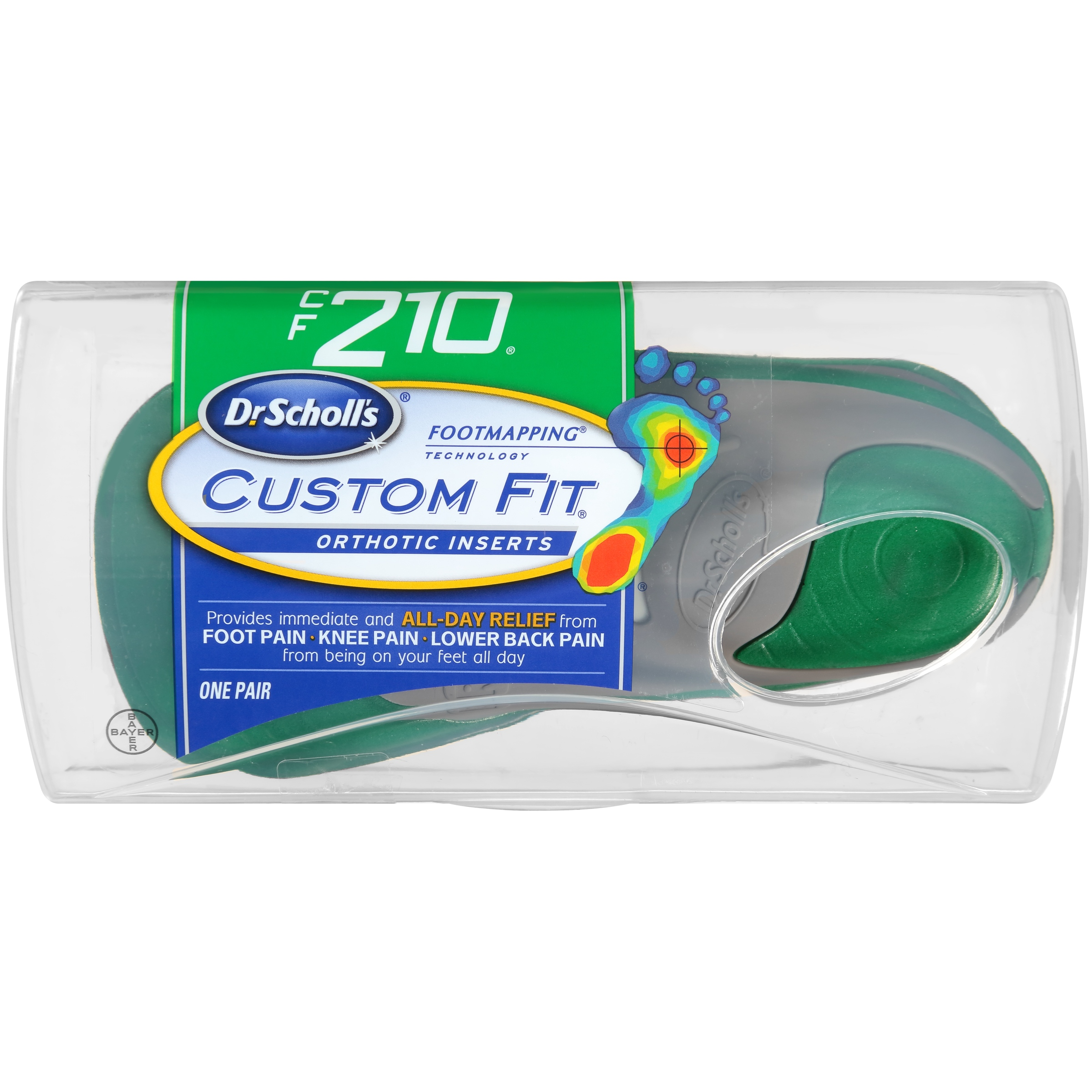 Dr. Scholl's® Custom Fit® Orthotic Inserts CF210, 1 Pair