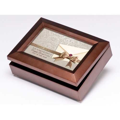 Cottage Garden Digital Happy Birthday Music Jewelry Box