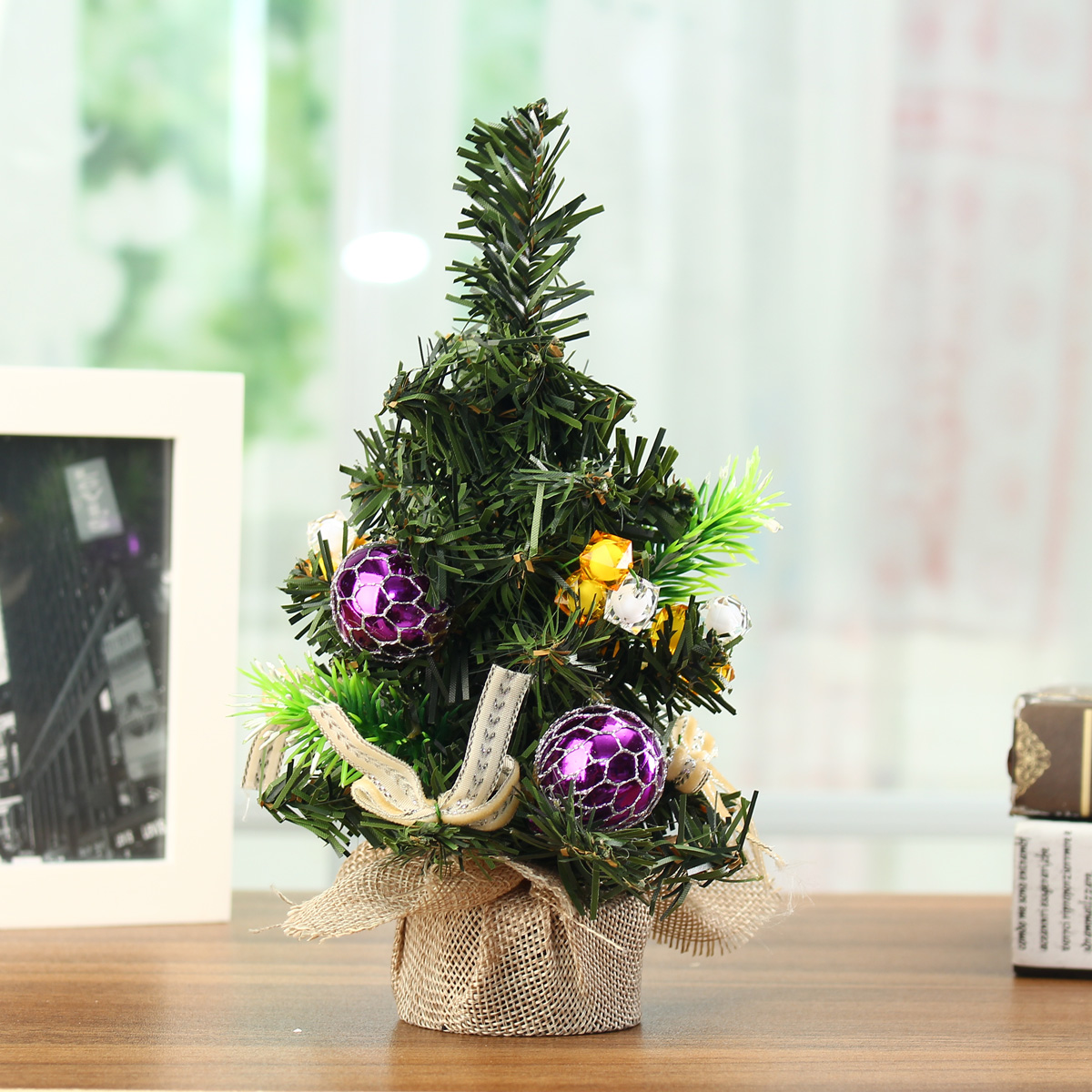 Mini Christmas tree decoration,Christmas Day exquisite decorations with jewelry,20cm