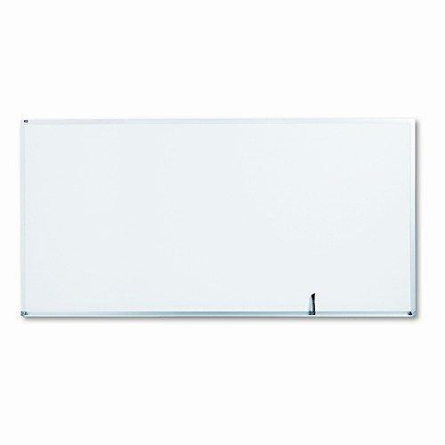 Quartet Standard Dry-Erase Board, Melamine, 96 x 48, White, Aluminum Frame