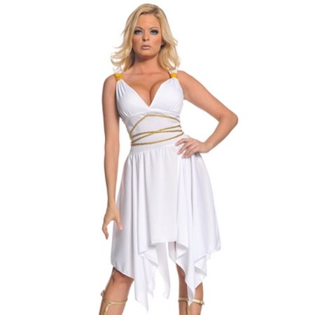 Greek Goddess Costume Underwraps Costumes 29315 White - White Greek Goddess Costume
