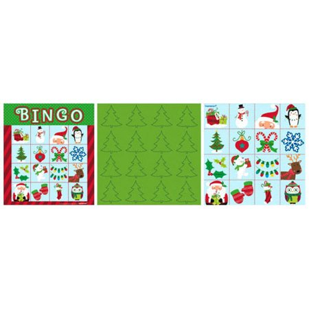 Christmas 'Holiday Friends' Bingo Party Game (1ct)