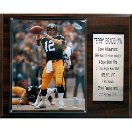 C Collectables Nfl 12X15 Terry Bradshaw Pittsburgh Steelers Career Stat Plaque