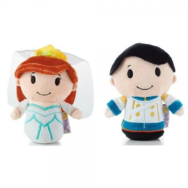 Hallmark Itty Bitty's Limited Edition Wedding Princess Ariel and Prince Eric Set of 2