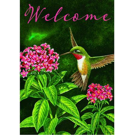 Custom Decor Welcome Hummingbird Garden Flag #2658FM - Walmart.com