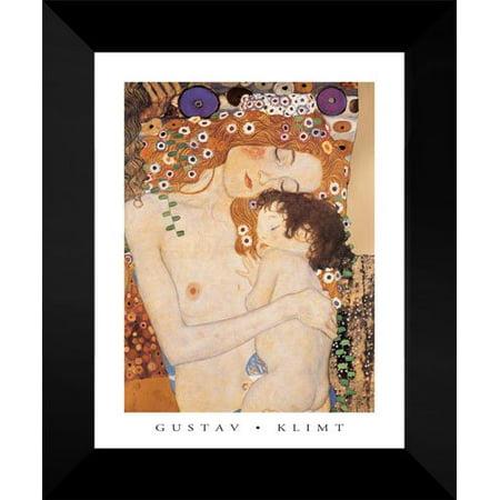 Mother And Child 15x18 Framed Art Print by Gustav Klimt