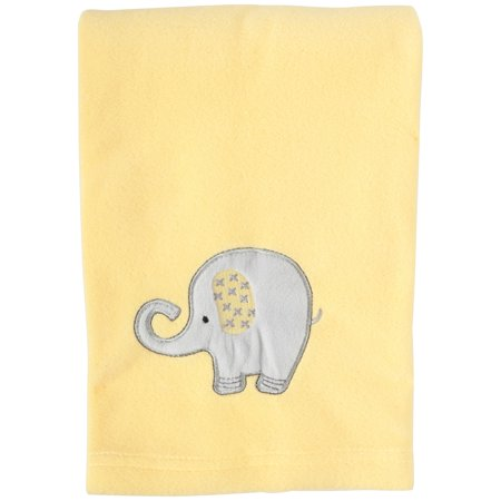 Little Bedding Elephant Time Yellow Fleece Baby Blanket Pack