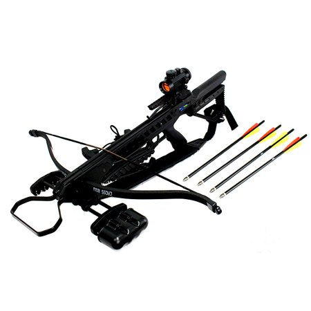 Hunting Package - Man Kung Hunting 175 LBS  Recurve Hunting Crossbow Package Black