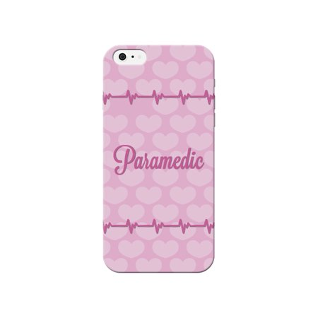 Paramedic Print Pink Heart Beat Pattern Background Design Medical Phone Case for the Apple Iphone 4 / 4s - Medical
