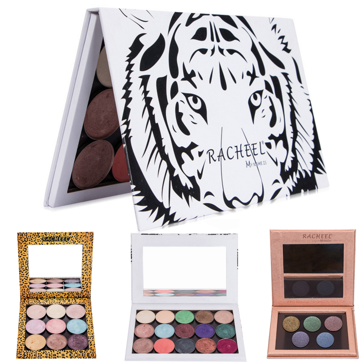 Empty Magnetic Palette Eyeshadow Makeup Cosmetic Palette Pad Paint Palette With Mirror