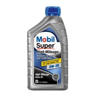 Mobil Super High Mileage Synthetic Blend Motor Oil 5W-30, 1 Quart