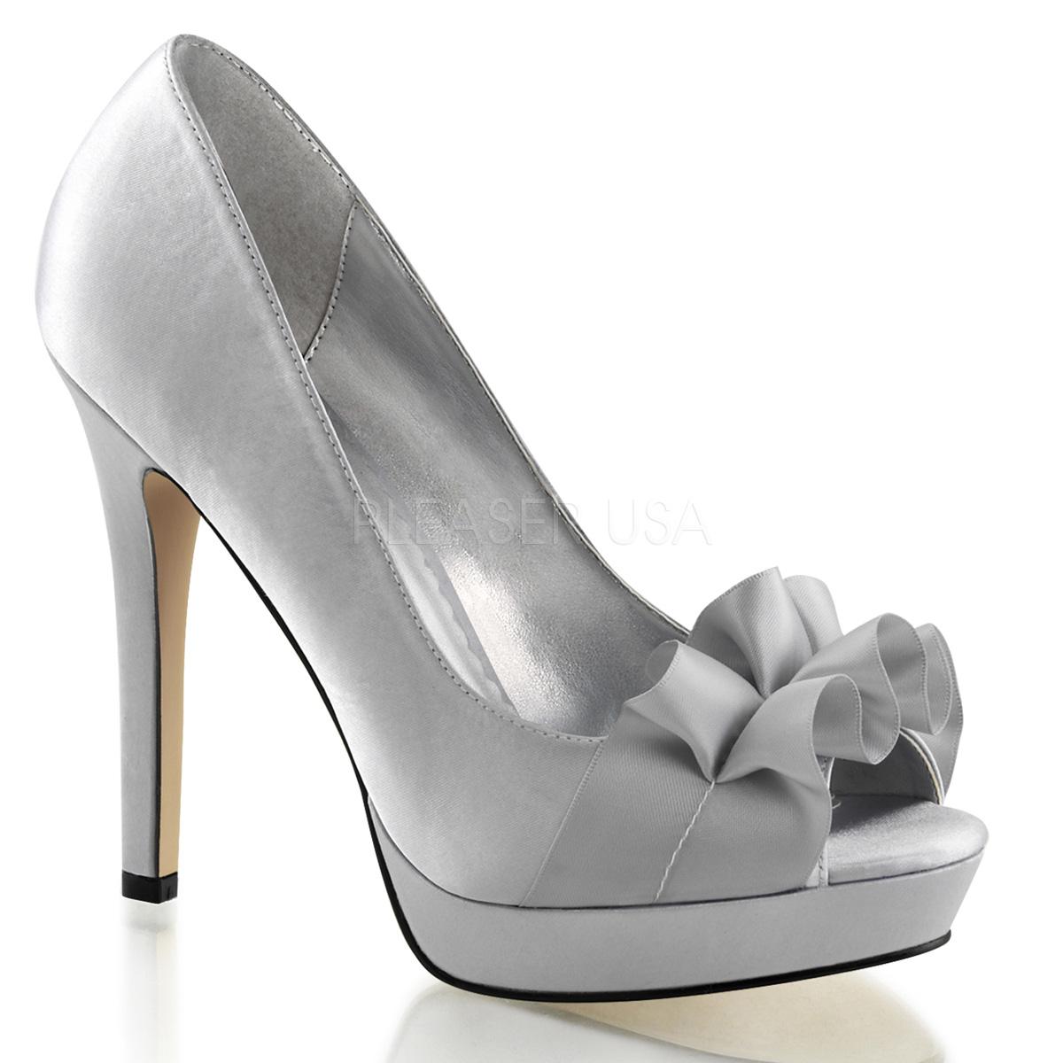 LUMINA-42, 4 3/4'' Heel 1'' PF Peep Toe Pump Sandal