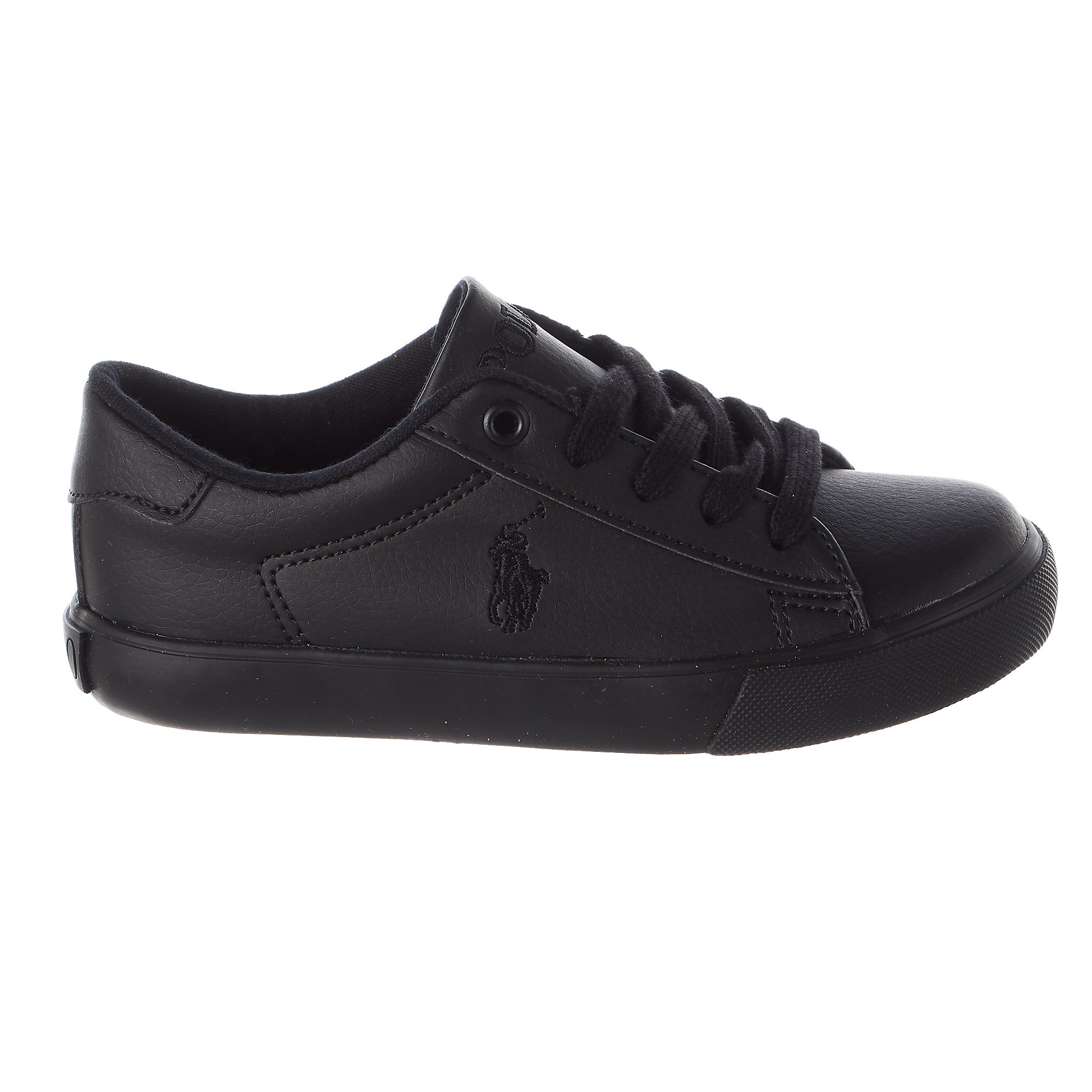 2457260a Buy Polo Ralph Lauren Easton Sneaker - Triple Black Tumbled - Boys ...