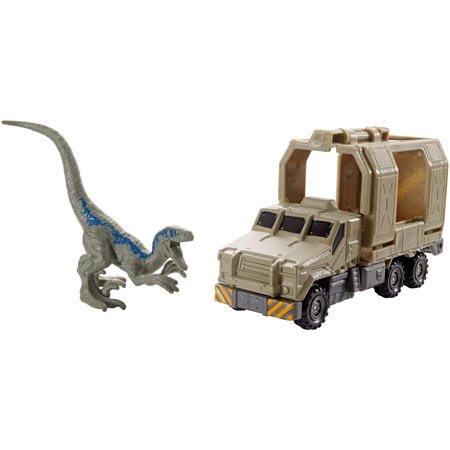Matchbox Jurassic World Dino Transporters Armored Raptor (Matchbox Hero Hauler Steer N Store Firetruck)