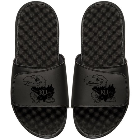 Kansas Jayhawks ISlide Youth Primary Logo Tonal Slide Sandals - Black