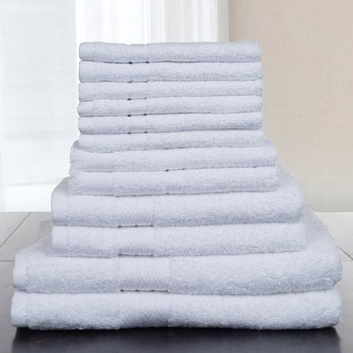 Somerset Home 12-Piece 100 Percent Cotton Towel Set