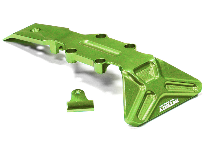Integy RC Toy Model Hop-ups T3981GREEN Billet Machined T2 Front Skid Plate 1 16 Traxxas... by Integy