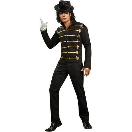 Men's Black Military Jacket Michael Jackson Costume