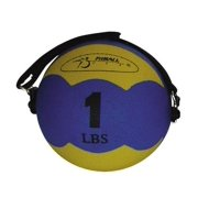 1-Pound FitBALL MiniMed Ball in Yellow w Adjustable Strap