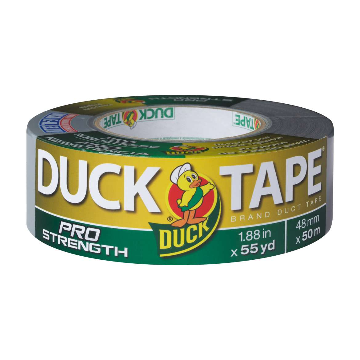 "Duck Tape Brand PRO Strength Duct Tape, Silver, 1.88"" x 55 yards"
