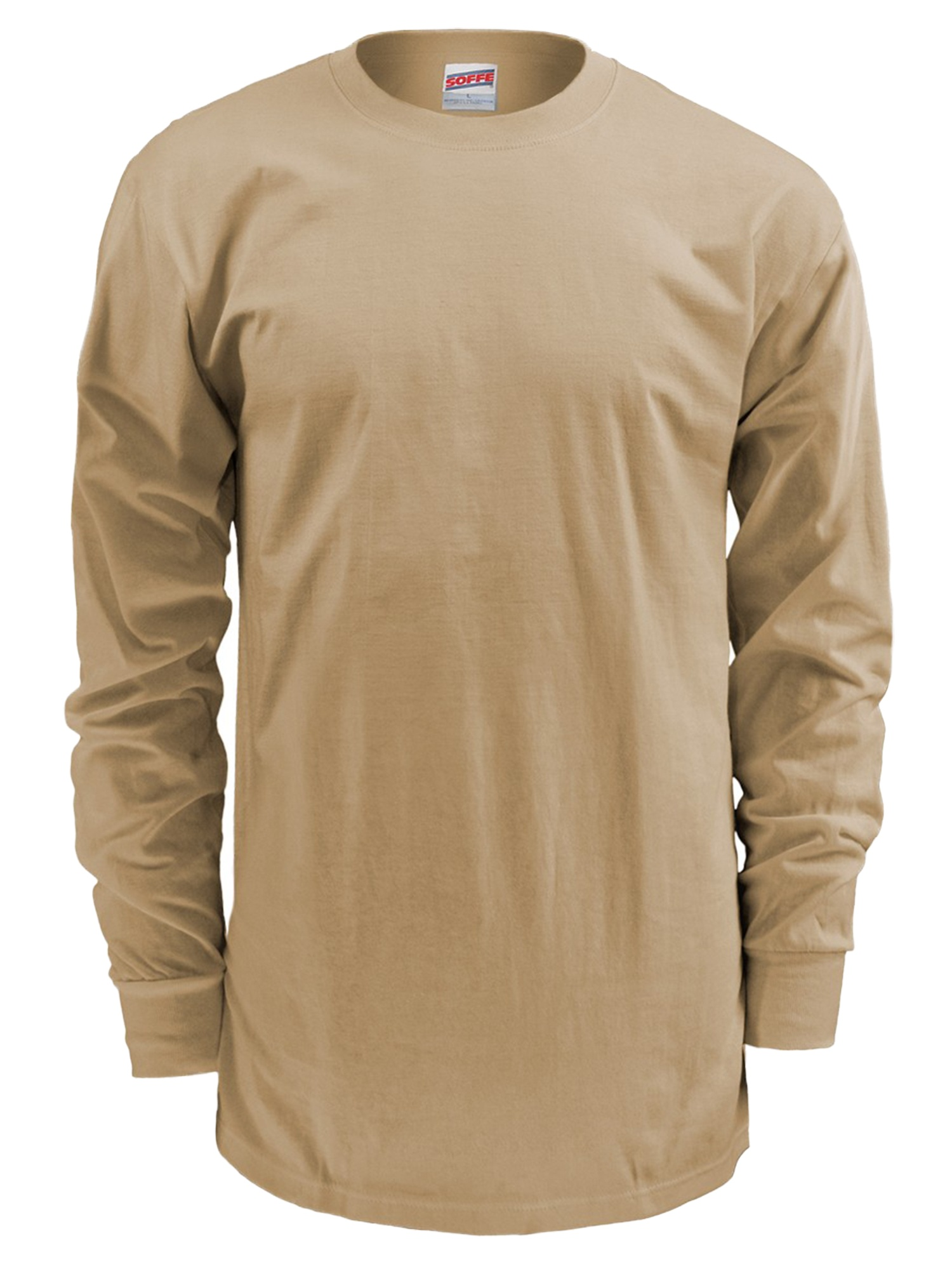 Soffe Mens Long-Sleeve Cotton T-Shirt