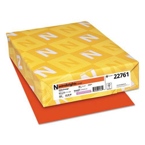 Astrobrights Colored Card Stock, 8-1/2 x 11, Orbit Orange, 250 Sheets (WAU22761)