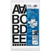 Chartpak Vinyl Helvetica Style Letters/Numbers, Black, 77 / Pack (Quantity)