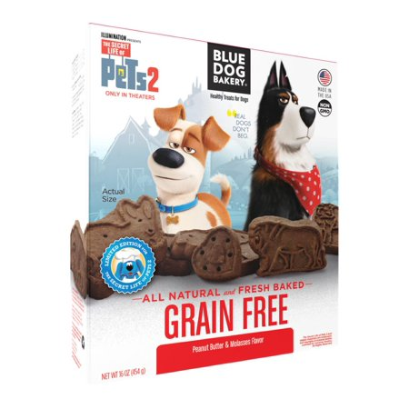 Blue Dog Bakery Healthy Treats for Dogs Grain Free Peanut Butter & Molasses Flavor, 16 Oz