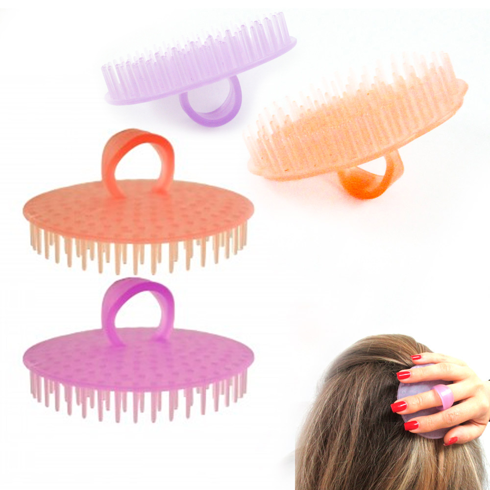 4 Hair Shampoo Scalp Body Massage Brush Comb Conditioner Clean Shower Care Salon