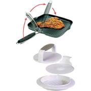 Starfrit Non-Stick Grill Pan with Hamburger Press Set