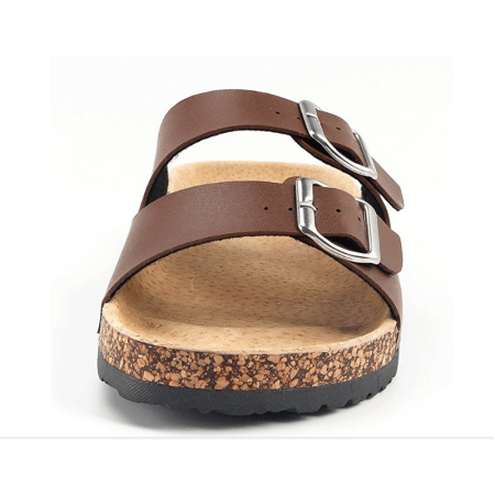 d147d883de57 NEW Slide Buckle T-Strap Cork Footbed Platform Sandals Shoes for Summer    Fall